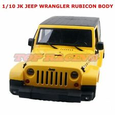 1/10 Scale RC Truck Body Shell JK JEEP WRANGLER RUBICON Hard Body Yellow