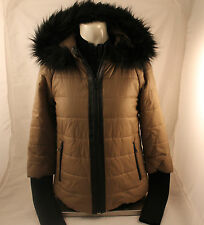 Danier Winter Coat with Leather Trim 3x Small BNWT Retail $299!!