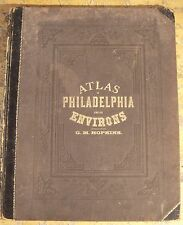 ATLAS OF PHILADELPHIA AND IT'S ENVIRON, by G. M. Hopkins 1877 Maps PA NJ Scarce!