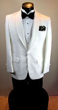 VINTAGE MENS WHITE TUXEDO JACKET SHAWL LAPEL 44S ROBERT WAGNER 4PC #623