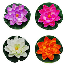 New Floating Pond Decor Water Lily / Lotus Foam Flower, Large, Set of 4