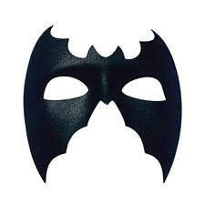 Plain Black Bat Mask Superhero Fancy Dress Masquerade Man Halloween Large Mens