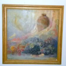 ORIGINAL STILL LIFE PAINTING LARGE BY LINDSTROM 34 X 34 SIGNED 1930