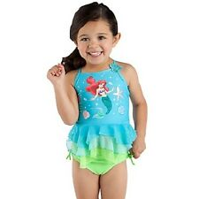 DELUXE ARIEL 2pc Sparkle~SWIM SUIT~7/8~NWT~Disney Store