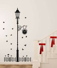 Wall Stickers Black Antique Street Lamp with Butterflies  69000115