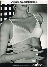 Publicité Advertising 1982 Lingerie sous vetements soutien gorge Aubade