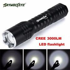 Zoomable 3000 Lumens 3 Modes CREE XML T6 18650 Torch Lamp LED Flashlight Gifts