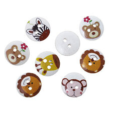 20 Wood buttons Mix,Animal Pattern,67. 6ozöcher,0 3/5in for crafting Children's