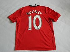 MANCHESTER UNITED 2009-10 FOOTBALL HOME SHIRT ROONEY 10 ,MENS XL