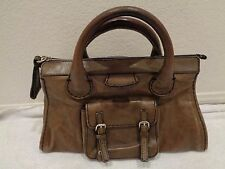 Chloe Olive Green Leather 'Edith' Satchel/Handbag/Purse