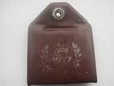ROYAL MEMORABILIA 1977 KEY RING BROWN PLASTIC WITH COMPARTMENTS  & PAPER PULL