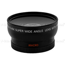 0.45X Wide Angle Lens for Sony XR500 XR520 XR550 HD1000 CX130