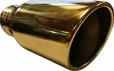 """9"""" 230mm Back Slash Cut Round Big Bore Exhaust Tip Stainless Steel Clip On"""