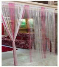 Ramcha Pink & White Shining String Curtain - 2 Pcs