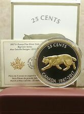 1867-2017 5OZ Big Coin Canada Alex Colville Designs Pure Silver 25 Cent Bobcat.