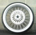 21 3.5 80 Spoke Front Wheel 120/70 Whitewall Tire Package 08-2015 Harley Touring