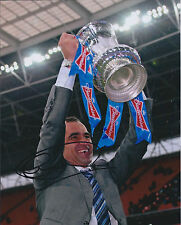 Roberto MARTINEZ SIGNED Autograph 10x8 Photo AFTAL COA Wigan Athletic FA Cup WIN