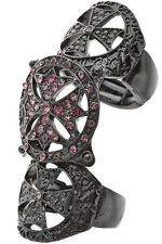Ring Cross Pewter Purple Rhinestone Encrusted Women Sexy Jewelry US Seller New