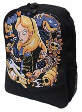 ALICE IN WONDERLAND ALTERNATIVE DISNEY DARKSIDE RUCKSACK LAPTOP BAG SCHOOLBAG
