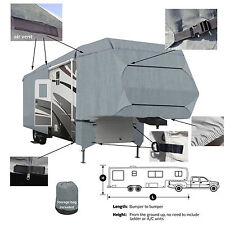 Deluxe 4-Layer 5th Wheel RV Motorhome Cover Fits 30'- 32' L Extra Tall