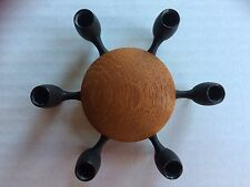 DIGSMED candle 6 stick holder Denmark Danish mid century teak cast iron 1960s