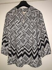 Black & White Blouse/Shirt By Skies are Blue at TK MAXX Size 14 -16 BNWT
