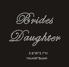 Brides Daughter Diamante Rhinestone Crystal Iron On Transfer - £2.69 FREE P&P