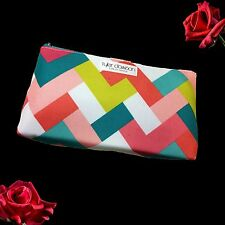 Tyler Dawson for Clinique Colorful Geometric Pattern Cosmetic Bag Unboxed New