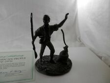 Vintage Franklin Mint American People Pewter Statue The First Citizen 1974