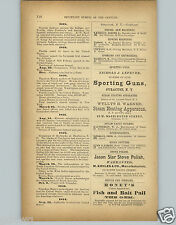 1878 PAPER AD Nichols & Lefever Sporting Guns Buffalo New York City Hall