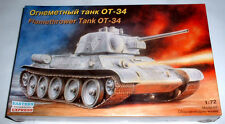 "New "" Model Kit 1/72 "" Carro armato  FLAMETHROWER TANK OT - 34  Eastern Express"