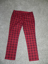 THE LIMITED DENIM 678 JEANS WOMENS SIZE 14 INSEAM 30 PLAID COLORED SKINNY NWOT