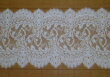 3Meters Off White French Style Chantilly Eyelash Double Edge Lace Trim Wide 36cm