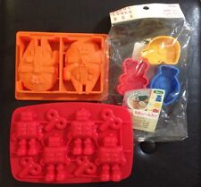 Lot STAR WARS MILLENNIUM FALCON, ROBOT Fred Ice Tray, Rice Roll MOLDS