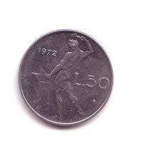 Repubblica Italiana  50 lire 1972 Vulcano 1°tipo acmonital    BB