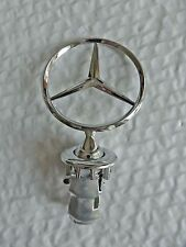 New Mercedes Benz Hood Emblem Badge Star Stand Up Front Logo W126 -Free Shipping