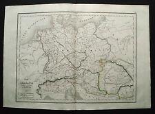 1847cFROM DELAMARCHE ATLAS:LA GERMANIA E PAESI ADIACENTI,POLONIA AUSTRIA...ETNA