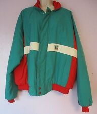 Vintage Mountain Dew Windbreaker Jacket 2XL K-Brand Thinsulate Teal/Red