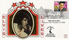 ELVIS PRESLEY - FIRST DAY COVER 007 ELVIS LIVES STAMPED IN MEMPHIS