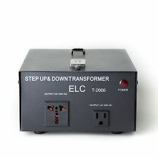 2000 Watt Voltage Converter Transformer Heavy Duty Step Up/Down 2000W 110-220V