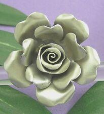 THAI KAREN HILL TRIBE 98% SILVER  Handmade FLOWER ROSE Cue RING Size 6-7 R582