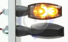 Blinker - Motorrad - LED - Blaze - schwarz - getöntes Glas