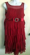 Girls Candies Red Ruffle Dress Size 16  Party Holiday
