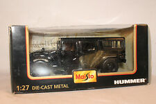 Maisto, GM Hummer Four Door Truck, Black, 1:27 Scale,  Boxed