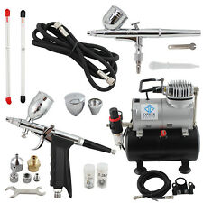 OPHIR 3 Tips of 2-Airbrush & 220V Air Compressor  for Hobby Temporary Tattoo