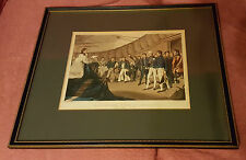 19th C 'Sailors at Prayers on Board Lord Nelson's Ship' - Rowley Gallery Framed
