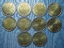 2004 FINLANDE 2 euro COMMEMORATIVE 10 pieces circulated poor quality