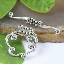 Tibetan Silver Charms Toggle Clasps 8sets H0043