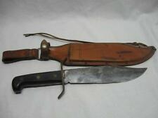 WESTERN vintage BOWIE Knife vintage W49 with original leather sheath 1970's