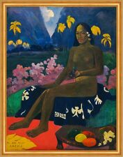 The Seed of the Areoi Paul Gauguin Eingeborene Frau Palmen Samen B A2 02998